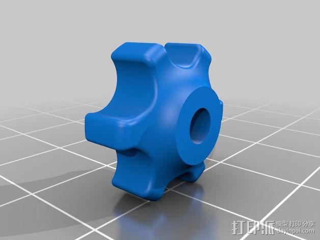 蝶形螺母旋钮 3D模型  图3