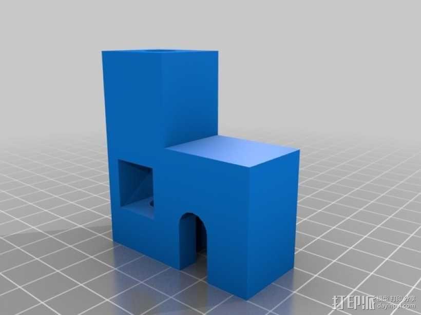 Prusa i3打印机的线轴支撑器 3D模型  图2