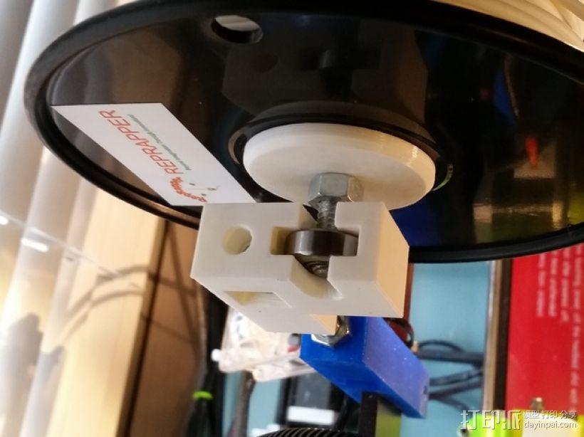 Prusa i3打印机的线轴支撑器 3D模型  图4