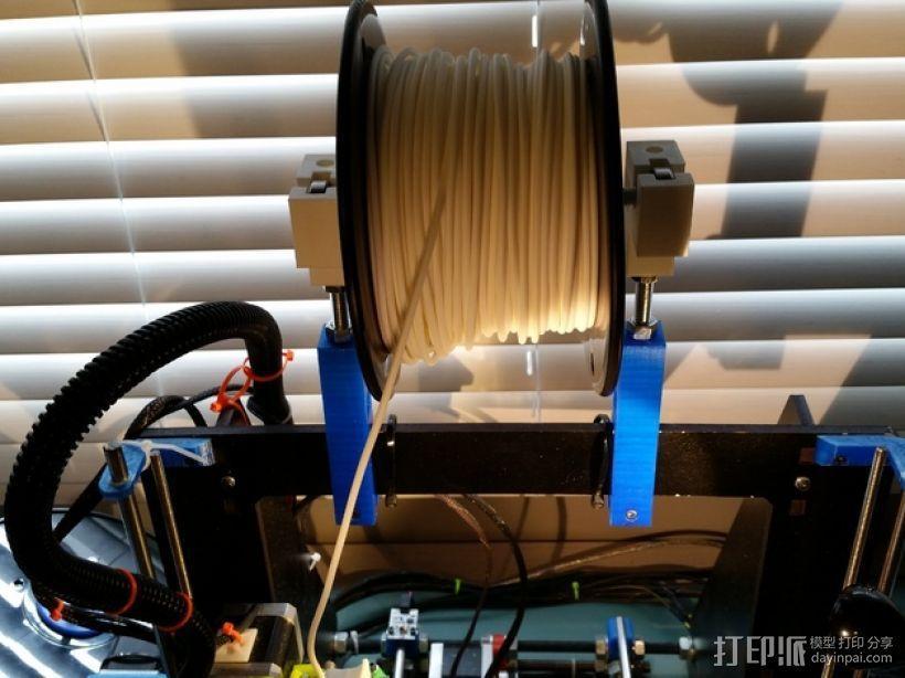 Prusa i3打印机的线轴支撑器 3D模型  图5