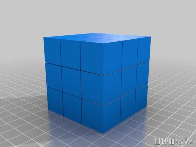 魔方方块 3D模型  图1