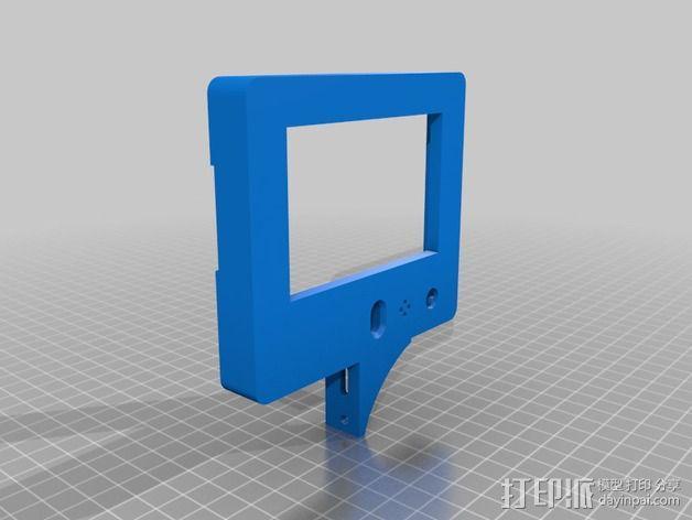智能控制器显示屏外框 3D模型  图2