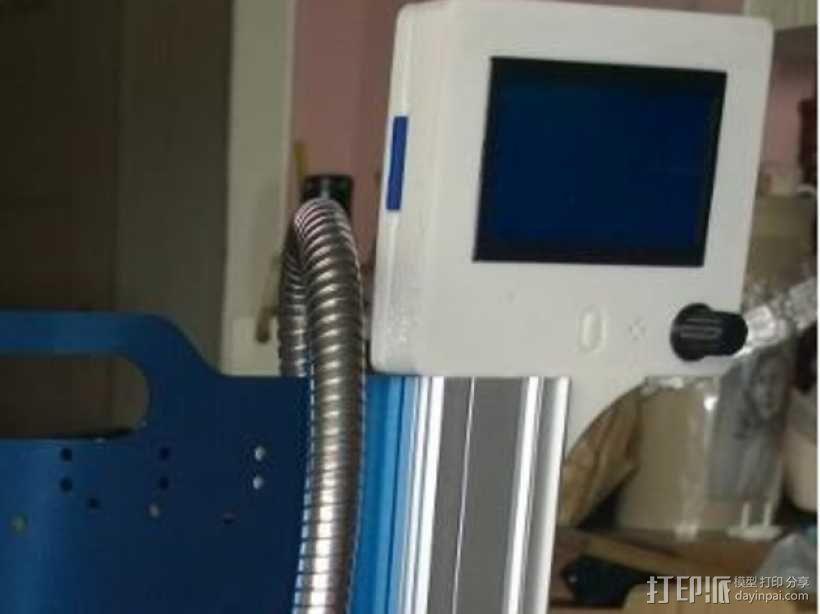 智能控制器显示屏外框 3D模型  图1
