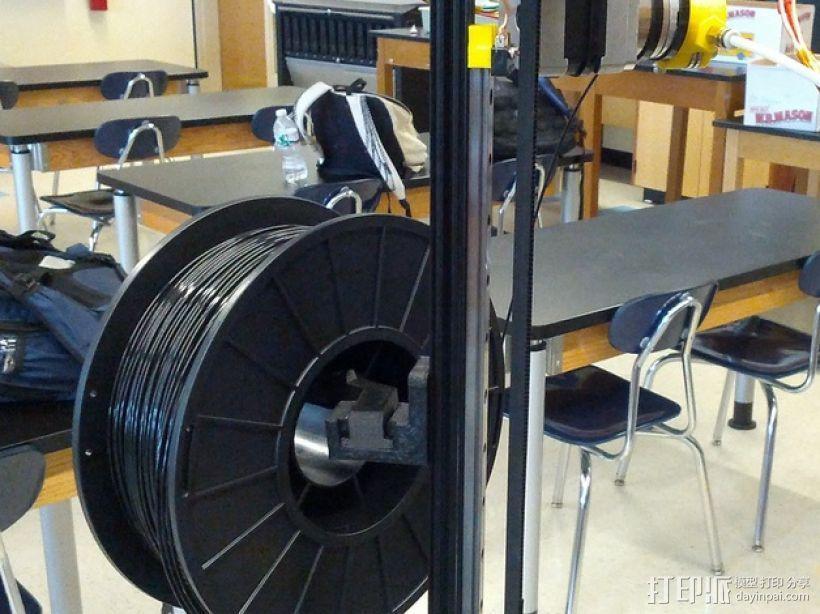 Mini Kossel delta式打印机的线轴支架 3D模型  图1