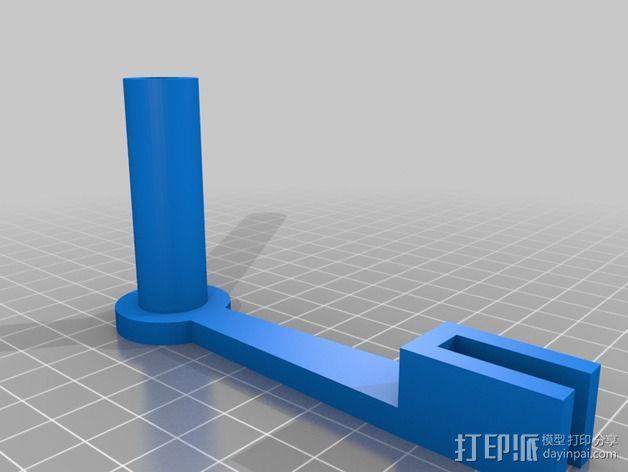 简易的线轴支架 3D模型  图2
