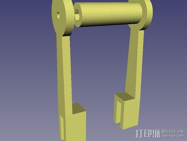简易的线轴支架 3D模型  图4