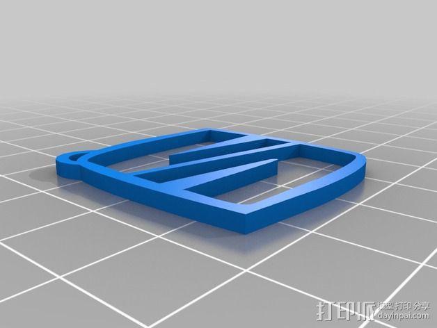 钥匙扣 3D模型  图1