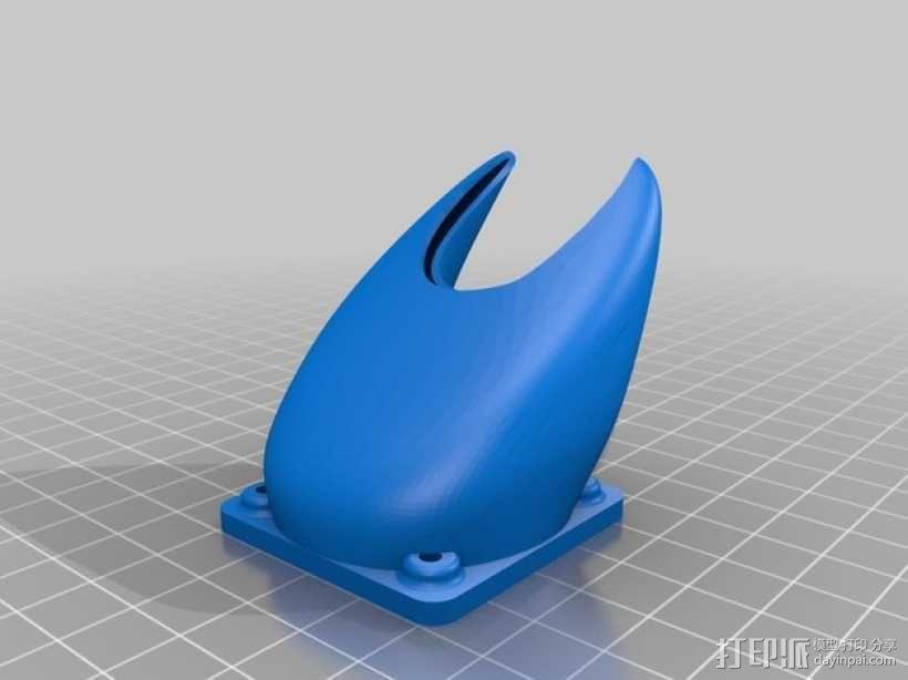 喷头风扇支架 3D模型  图3