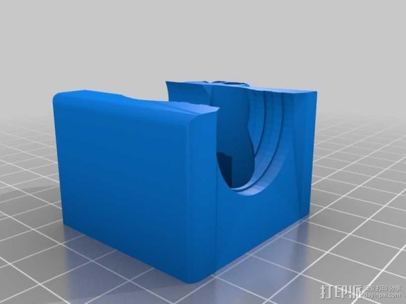 喷头风扇支架 3D模型  图2