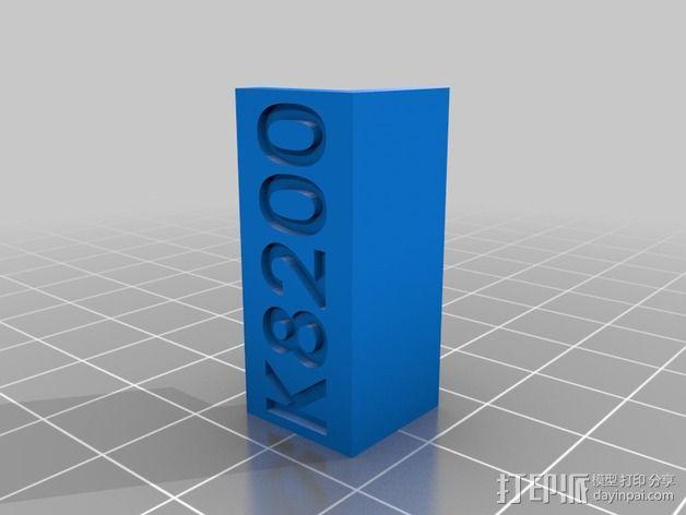 K8200打印机的皮带张紧器 3D模型  图4
