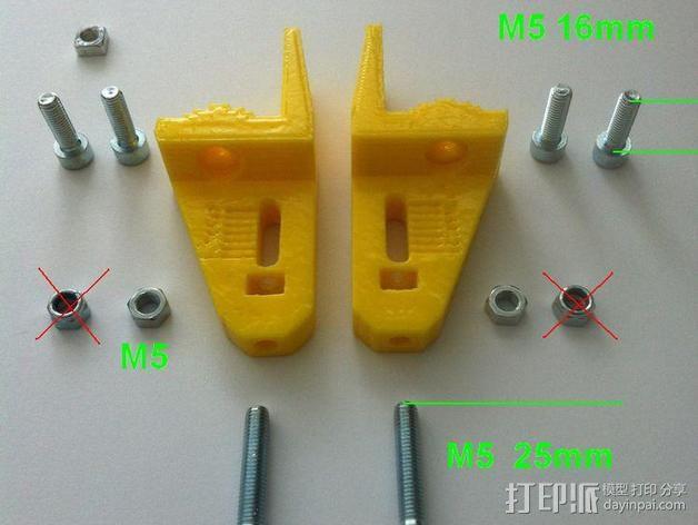 K8200打印机的皮带张紧器 3D模型  图9
