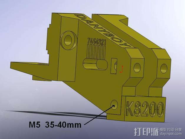 K8200打印机的皮带张紧器 3D模型  图6