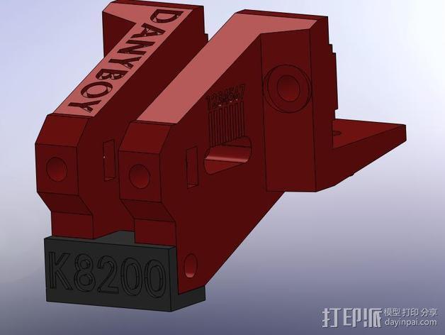 K8200打印机的皮带张紧器 3D模型  图5