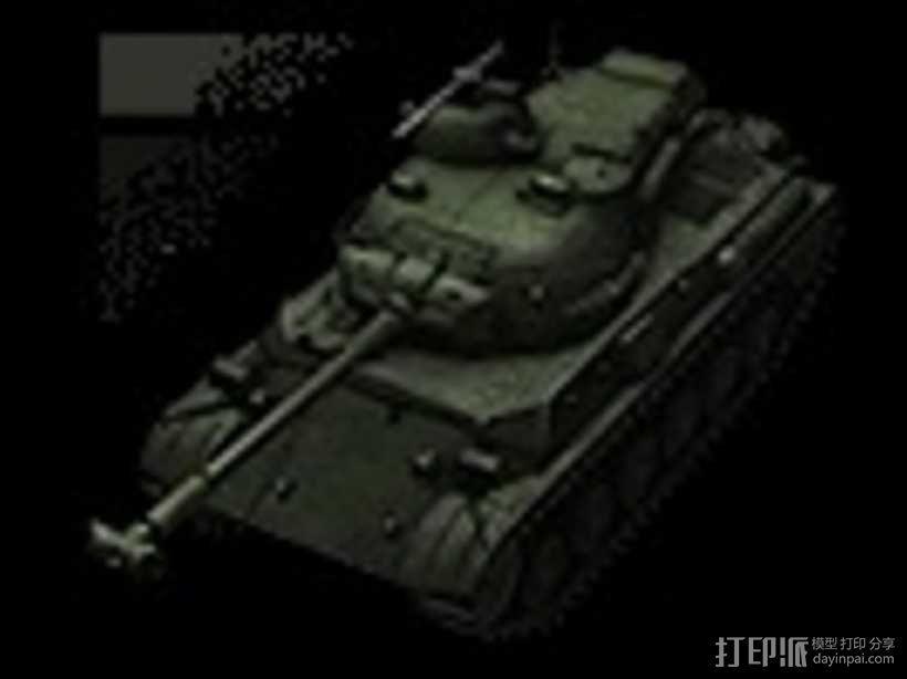 61式坦克 3D模型  图1