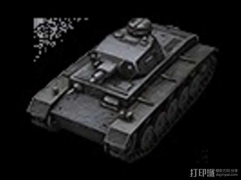 DW II坦克 3D模型  图1