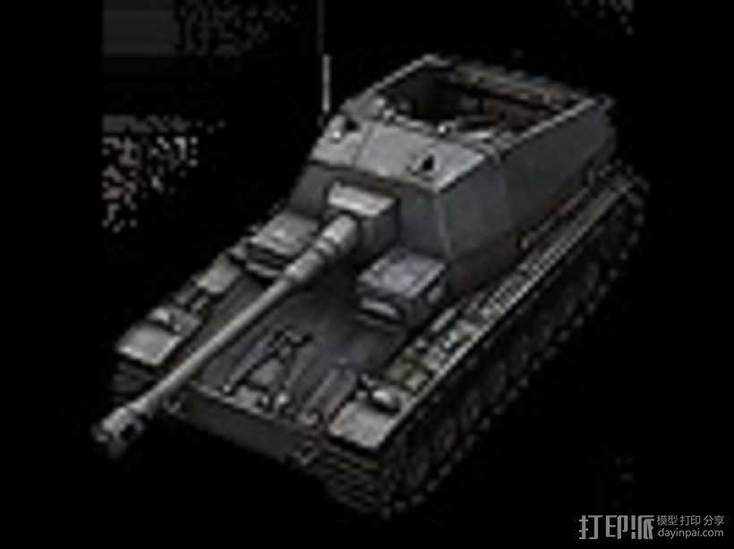 DickerMax坦克 大麦克斯自行反坦克炮 3D模型  图1