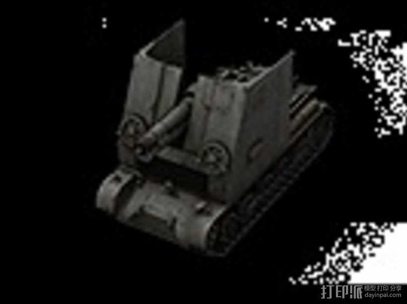 野牛二级SPG坦克 3D模型  图1