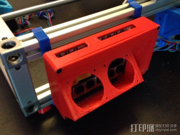 R.U.M.B.A.电路板外罩 带风扇 3D模型  图2