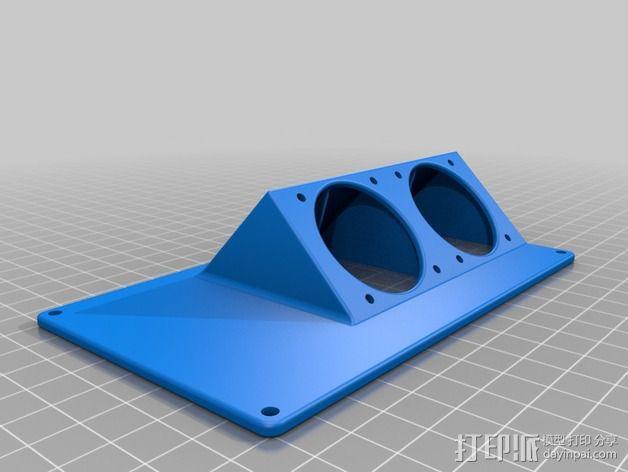 R.U.M.B.A.电路板外罩 带风扇 3D模型  图8