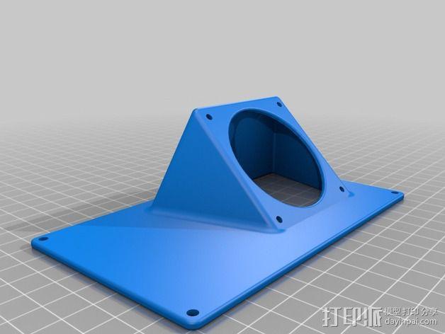 R.U.M.B.A.电路板外罩 带风扇 3D模型  图9