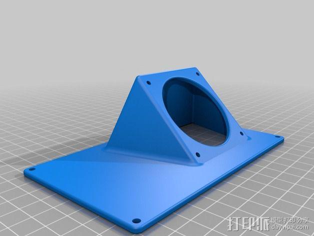 R.U.M.B.A.电路板外罩 带风扇 3D模型  图10