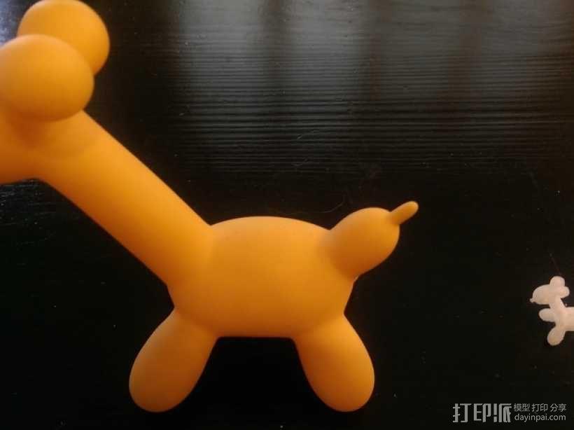 气球长颈鹿 3D模型  图1