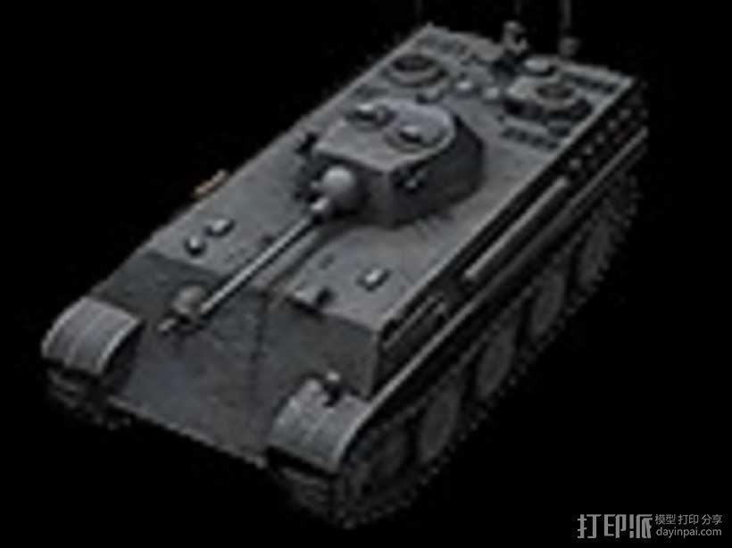 德国7阶轻型坦克 Auf Panther 3D模型  图1