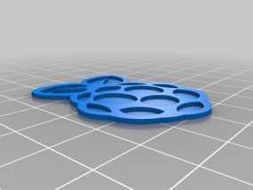 树莓派的标志 3D模型