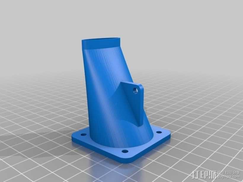 Prusa i3 打印机的风扇和风扇导管 风扇支架 3D模型  图1
