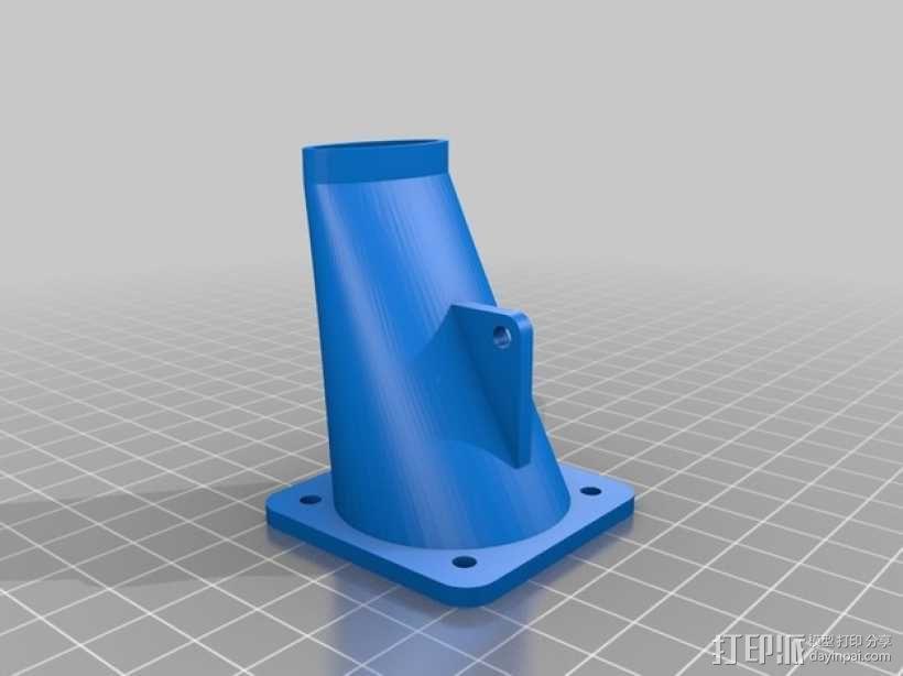 Prusa i3 打印机的风扇和风扇导管 风扇支架 3D模型  图2