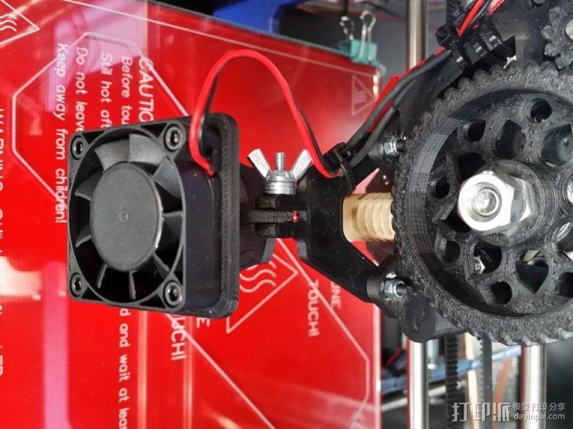 Prusa i3 打印机的风扇和风扇导管 风扇支架 3D模型  图4