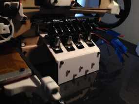 Printrbot Simple打印机的开关和LED显示屏支架 3D模型