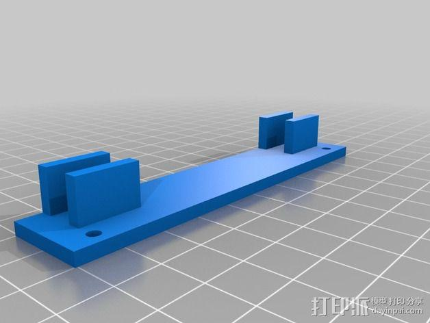 Printrbot Simple打印机的开关和LED显示屏支架 3D模型  图2