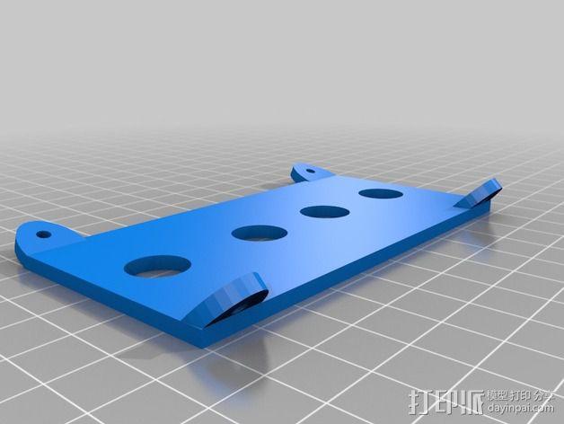 Printrbot Simple打印机的开关和LED显示屏支架 3D模型  图4