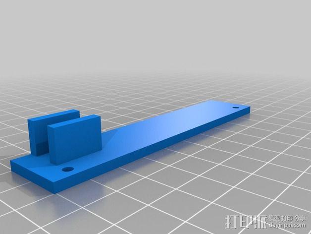Printrbot Simple打印机的开关和LED显示屏支架 3D模型  图3