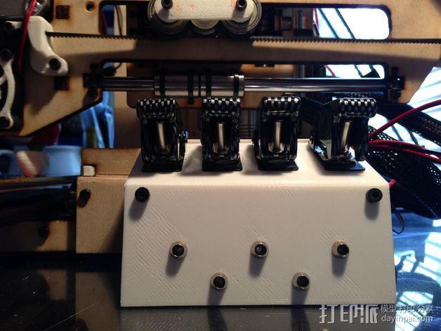 Printrbot Simple打印机的开关和LED显示屏支架 3D模型  图7