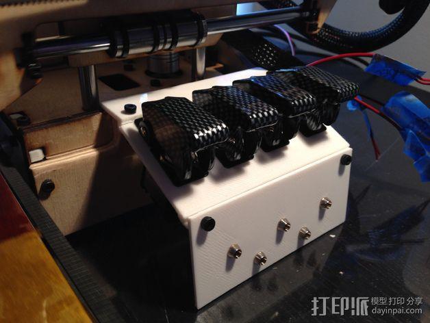 Printrbot Simple打印机的开关和LED显示屏支架 3D模型  图6