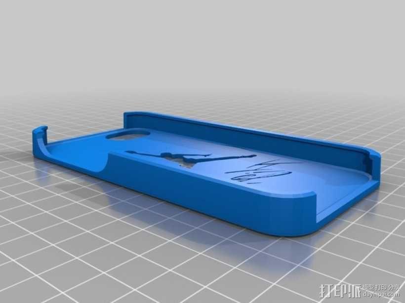 乔丹标志Iphone 5s 手机套 3D模型  图1