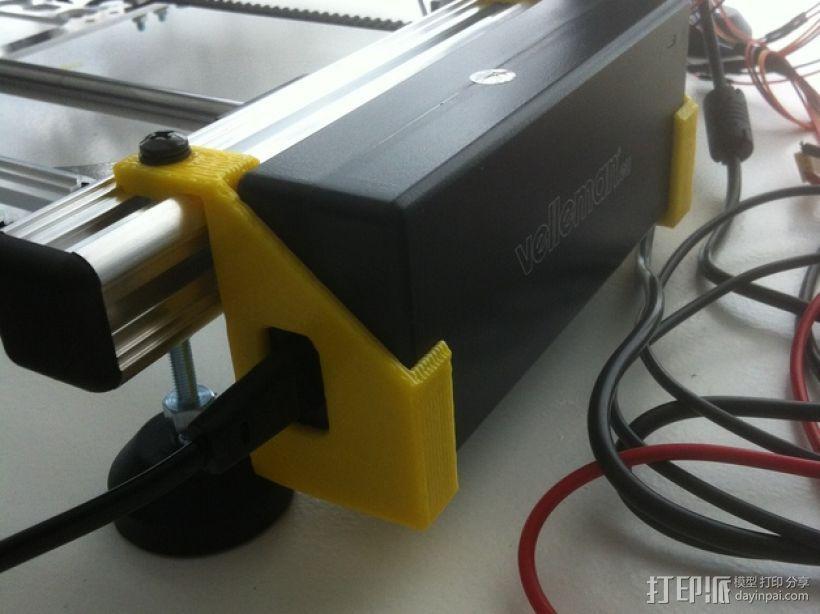 电源支架 3D模型  图1