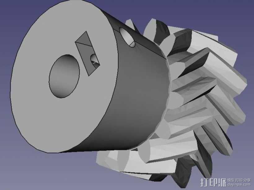 驱动齿轮 3D模型  图1