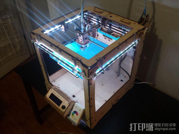 LED灯固定架 框架 3D模型  图2