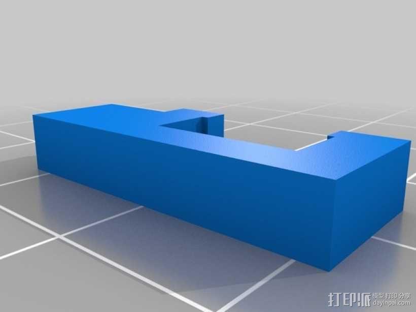 LED灯固定架 框架 3D模型  图8