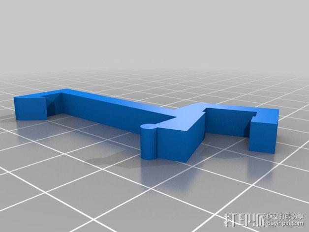 LED灯固定架 框架 3D模型  图7