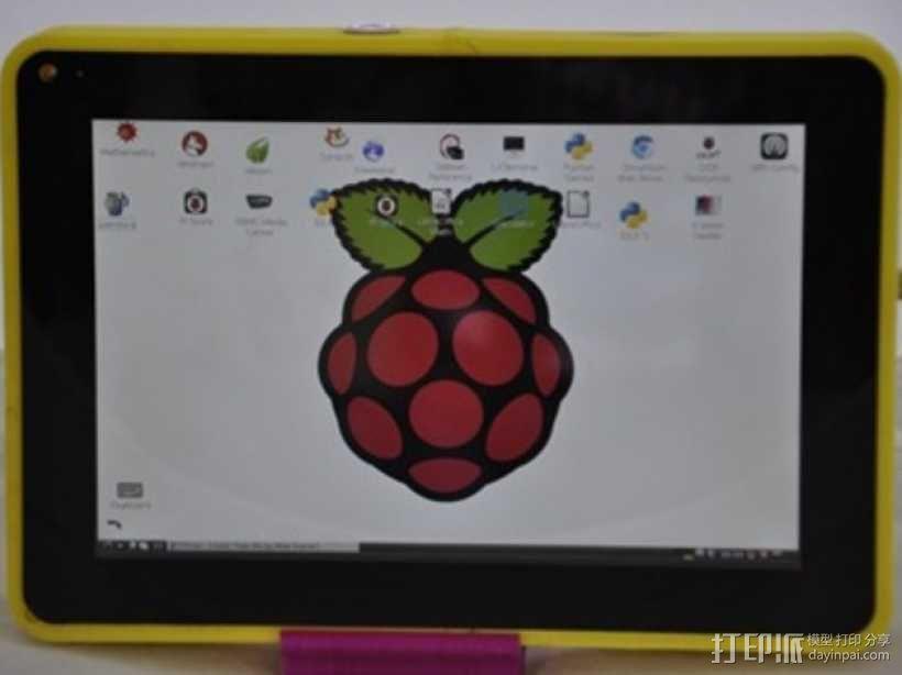 Raspberry pi树莓派平板电脑保护壳 3D模型  图1