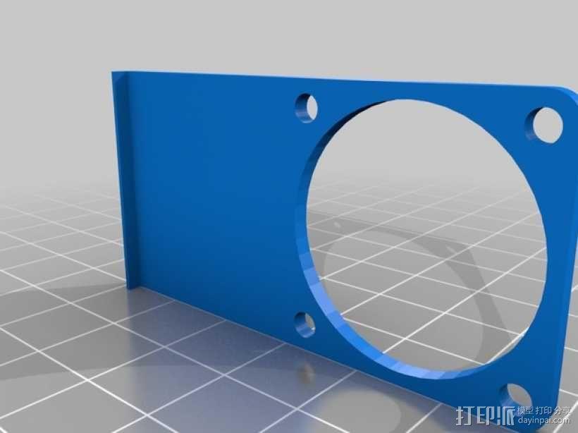 E3D喷头风扇 3D模型  图4
