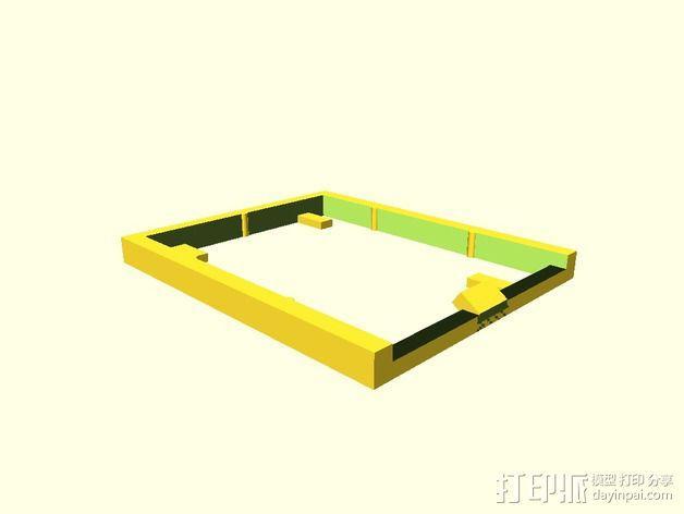 电路板支撑架 3D模型  图2