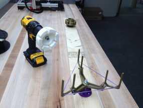 电钻驱动的线材收纳器 卷线器 3D模型