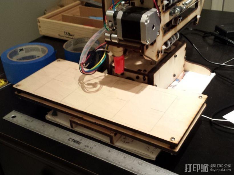 X轴打印机延展板 3D模型  图2