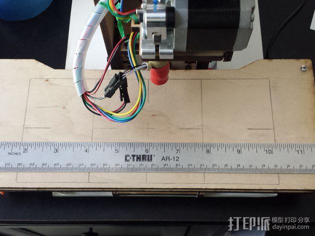 X轴打印机延展板 3D模型  图3