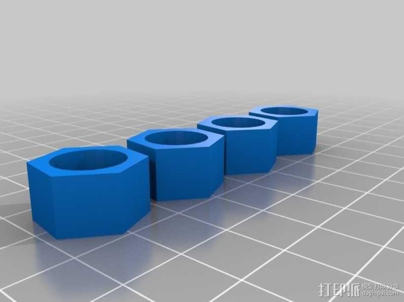 Duplicator 4旋钮 3D模型  图1